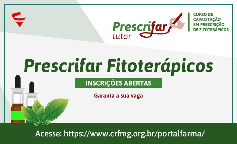 Inscrições abertas para Prescrifar Fitoterápicos